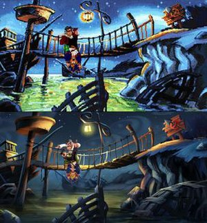 Monkey Island 2: LeChuck's Revenge - One of the changes for the Special Edition (bottom) from the original (top) is the updated high-definition graphics.