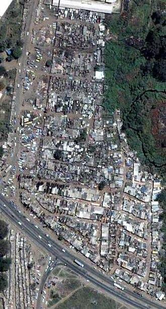 Operation Murambatsvina - Siya-so Home Industries area in Mbare township before Operation Murambatsvina