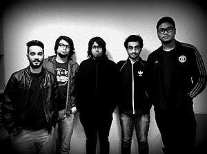 Nemesis (Bangladeshi band) - From left to right: Zohad Reza Chowdhury, Raquibun Nabi Ratul, Sultan Rafsan Khan, Zafir Huq and Dio Haque