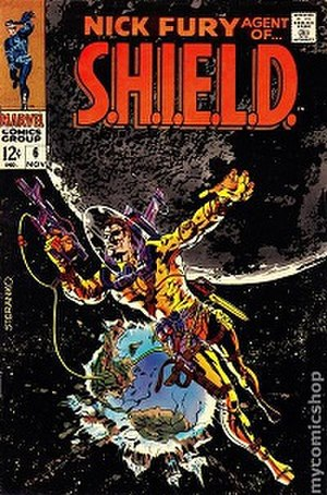 Nick Fury, Agent of S.H.I.E.L.D. (comic book) - Cover nr 6 from the 1968 series, drawn by Jim Steranko