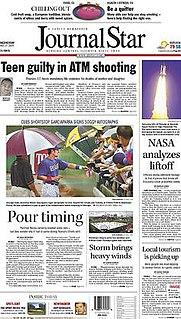 <i>Journal Star</i> (Peoria) main newspaper in Peoria, Illinois