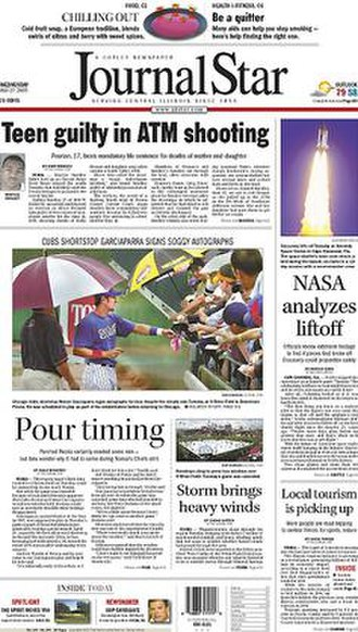 Journal Star (Peoria) - July 27, 2005 front page