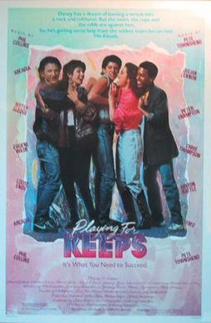 Playing for Keeps (1986 film) - Theatrical release poster