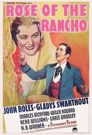 Rose of the Rancho (1936 film) - Theatrical release poster