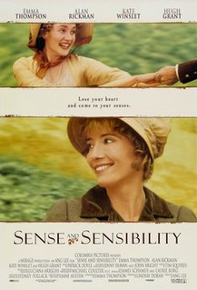 <i>Sense and Sensibility</i> (film) 1995 period drama film directed by Ang Lee