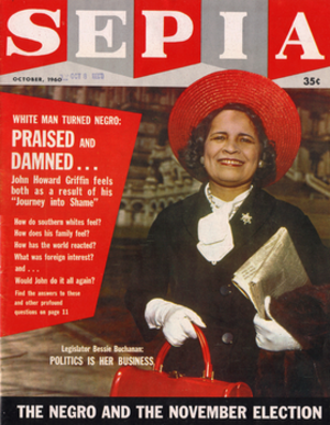 Sepia (magazine) - October 1960 cover of Sepia featuring Bessie A. Buchanan