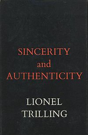 Sincerity and Authenticity - Cover of the first edition