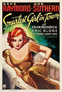 <i>Smartest Girl in Town</i> 1936 film by Joseph Santley