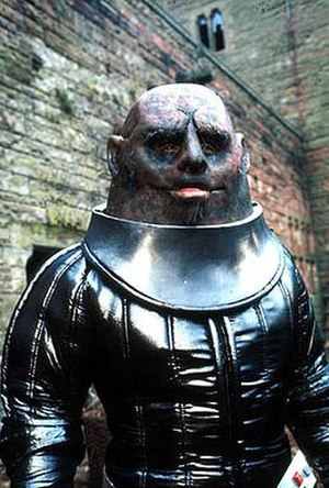 "Sontaran - Kevin Lindsay as Commander Linx, the first Sontaran shown, in ""The Time Warrior"""