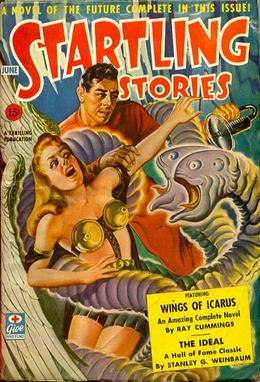 Startling Stories June 1943 cover by Earle K Bergey