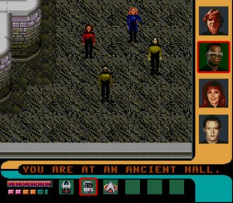 Star Trek: The Next Generation (1994 video game) - A mission on a planet's surface
