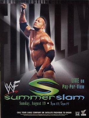 SummerSlam (2001) - Promotional poster featuring The Rock