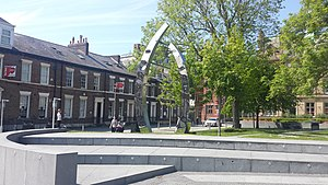 Sunniside, Sunderland - Sculpture at Sunniside installed in 2008, a symbol of the area's growing regeneration