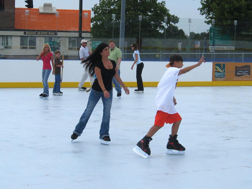 Ice Skating Ring Near M Taunton