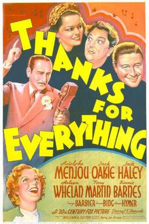Thanks for Everything - Theatrical release poster