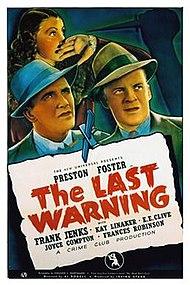 La Last Warning-poster.jpg