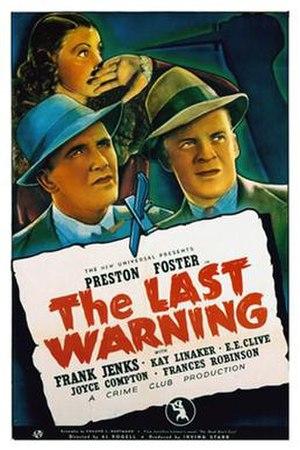 The Last Warning - Original poster art featuring Laura La Plante