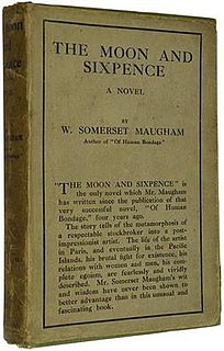 <i>The Moon and Sixpence</i> 1919 novel by W Somerset Maugham