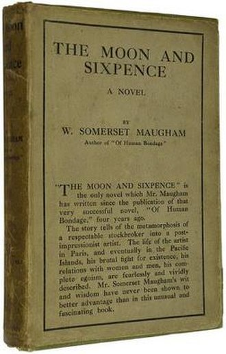 The Moon and Sixpence - Cover of the first UK edition