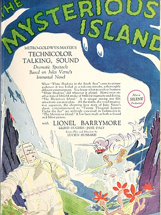 The Mysterious Island (1929 film) - ad for film