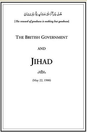 The British Government and Jihad - Book-Title The British Government and Jihad (22 May 1900)