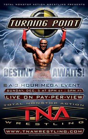 Turning Point (2004 wrestling) - Promotional poster featuring Monty Brown