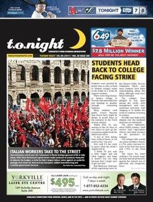 Tonight (newspaper) - Image: Tonight 20110906