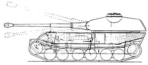 VK 4502 (P) - The VK 4502 (P) Ausf. B (version with rear-mounted turret)