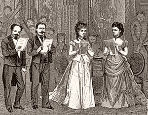 Giuseppe Capponi - Giuseppe Capponi (second from left) in the first performance of the Verdi Requiem at La Scala on 25 May 1874