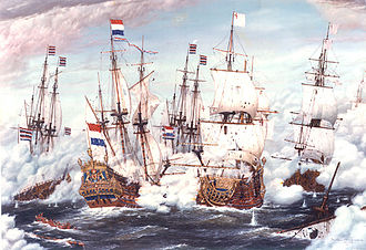 Anglo-Dutch Wars - The Second Day of the Four Day Battle of 1666, by Willem van de Velde