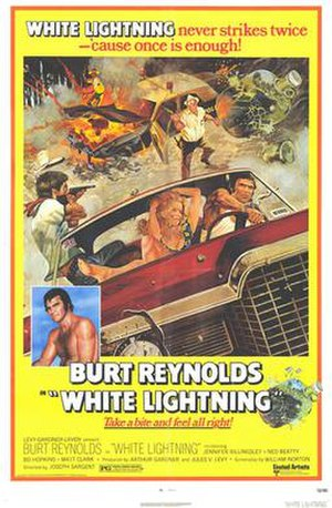 White Lightning (1973 film) - Theatrical release poster by Tom Jung