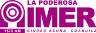 XHRF-FM - Image: XERF La Poderosa 1570 logo