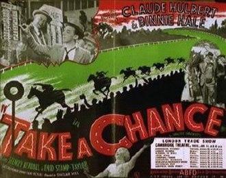 Take a Chance (1937 film) - Trade ad