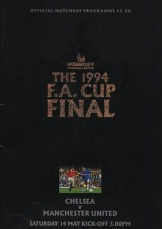 1994 FA Cup Final - The match programme cover