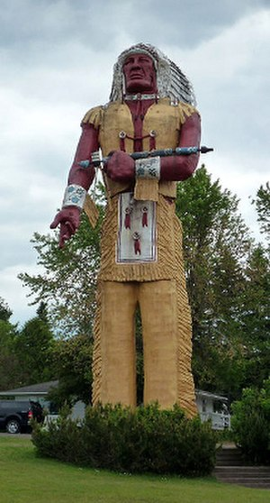 "Ironwood, Michigan - ""World's Tallest Indian"""