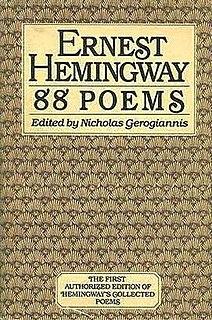 <i>88 Poems</i> book by Ernest Hemingway