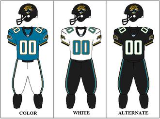 2003 Jacksonville Jaguars season - Image: AFCS 2003 Uniform JAX