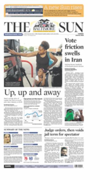 The Baltimore Sun - Image: Baltimoresunjune 162009