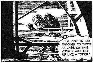 Dan Barry (cartoonist) - Excerpt from Flash Gordon daily strip. Art by Dan Barry.
