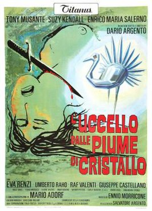 The Bird with the Crystal Plumage - Italian theatrical release poster