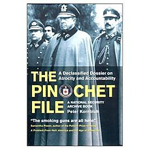 "Bookcover for the book ""The Pinochet File, A Declassified Dossier on Atrocity and Accountability"".jpg"
