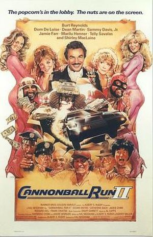 Cannonball Run II - Theatrical release poster by Drew Struzan
