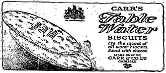 Carr's - Newspaper advertisement 1922