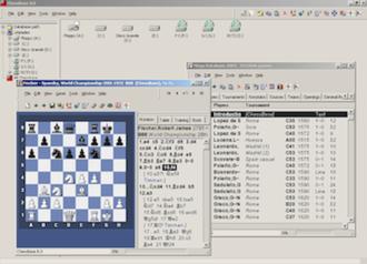 ChessBase - Image of ChessBase 8.0 running under Windows XP (year 2008).