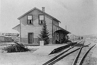 Coboconk - The former Coboconk train station in 1901
