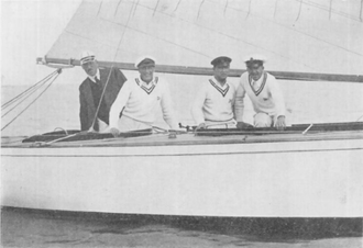 Erik Anker - Anker in Norna, second from the right.