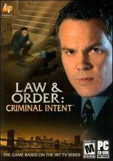 <i>Law & Order: Criminal Intent</i> (video game) video game