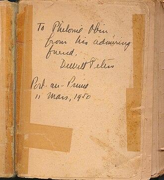 Philomé Obin - Image: Dewitt Peters's signature