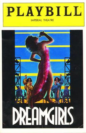 Dreamgirls - Cover for the second Playbill musical Dreamgirls. The artwork for the original Playbill was also used as the cover of the ''Dreamgirls'' Original Broadway Cast album.