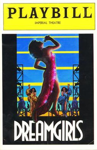 Dreamgirls - Cover for the second Playbill musical Dreamgirls. The artwork for the original Playbill was also used as the cover of the Dreamgirls Original Broadway Cast album.